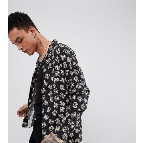 Heart & Dagger Revere Shirt In Long Sleeve With Abstract Print - Black