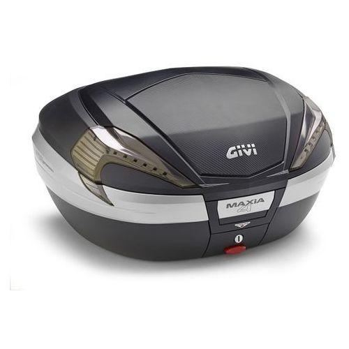 Kufer v56nnt maxia 4 (czarny, 56 litrów, szare odblaski, pokrywa karbonowa) marki Givi