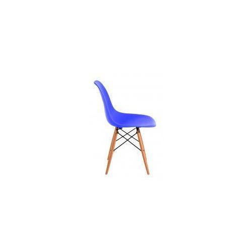 Krzesło P016W PP jasne drewniane nogi (niebieskie) D2