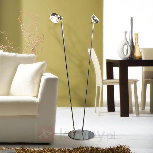 Ruchoma lampa stojąca puk floor, chrom matowy marki Top light