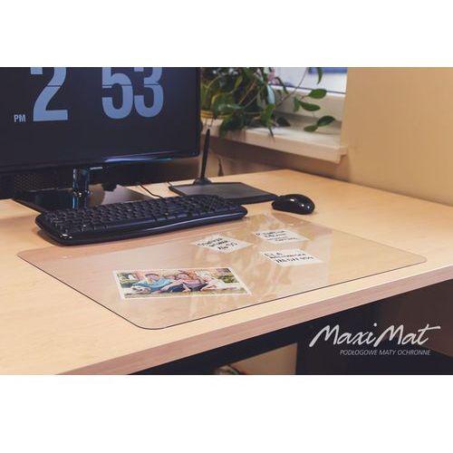 Podkładka deskpad na biurko, stół 50x70cm - przezroczysta + bonus marki Maximat