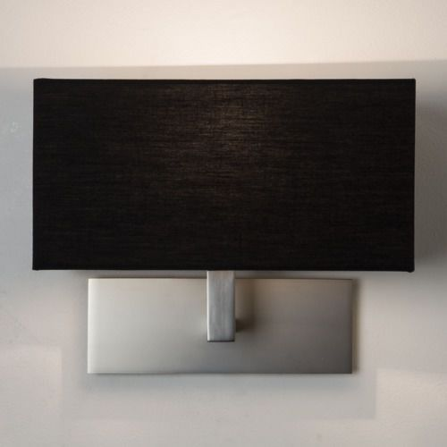 Park Lane Wall Light MN with Black shade, 7098