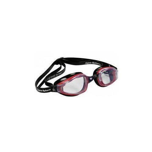 Michael phelps aqua sphere Męskie okulary pływackie k180 clear czarne/czerwone