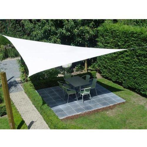 Żagiel przeciwsłoneczny ogrodowy trójkąt 5mx5m biały dobrebaseny