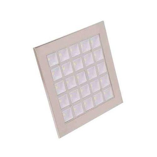 Oczko lampa sufitowa hl683l 01714 podtynkowa oprawa led 25w kwadratowy wpust satyna marki Ideus
