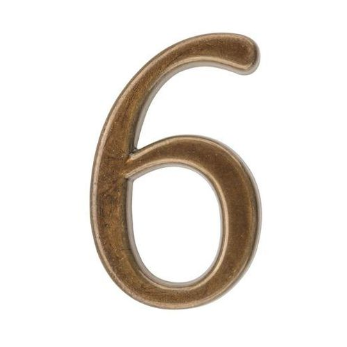 Cyfra 6/9 wys. 5 cm metalowa brązowa (5901912823020)