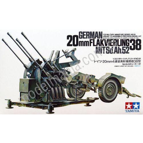 Niemieckie holowane działo przeciwlotnicze flakvierling 38 20mm 35091 marki Tamiya