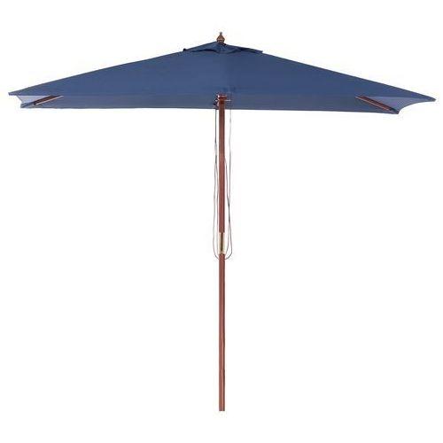 Parasol ogrodowy - ciemnoniebieski - 244 x 195 cm - drewno – FLAMENCO (4260580928156)