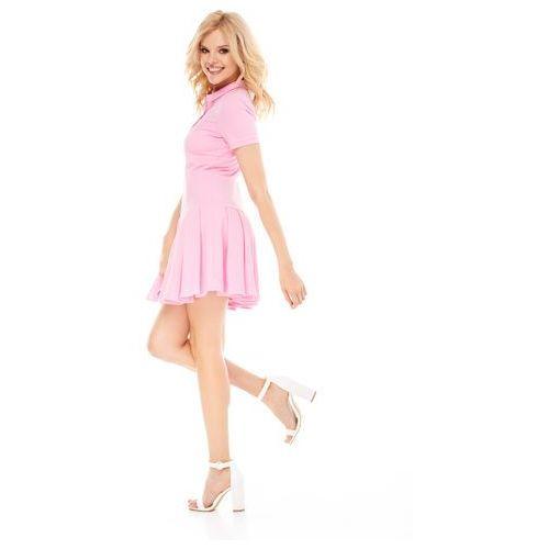 Sukienka Marina w kolorze różowym, kolor różowy