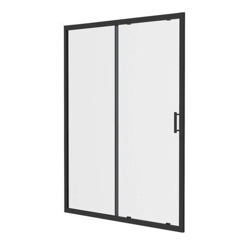 Goodhome Drzwi prysznicowe przesuwne beloya 120 cm czarne / transparentne