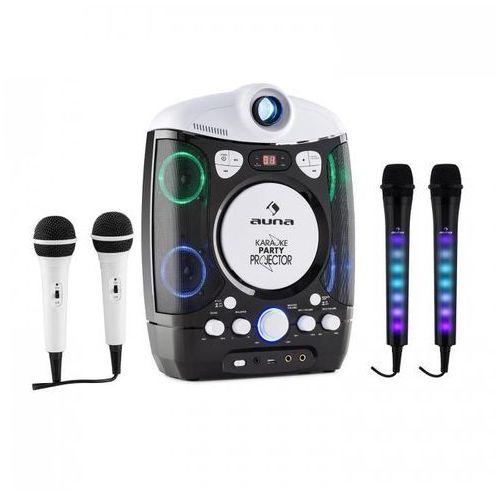 Kara projectura zestaw do karaoke czarny + kara dazzl zestaw mikrofonów led marki Auna