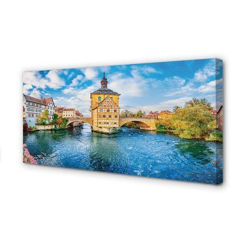 Obrazy na płótnie Niemcy Rzeka mosty stare miasto
