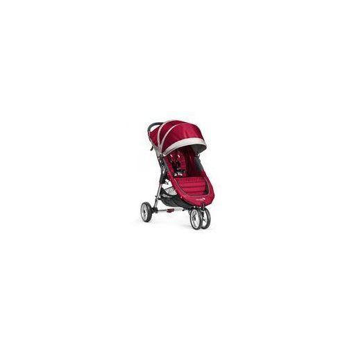 W�zek spacerowy city mini single + gratis (crimson/gray) marki Baby jogger