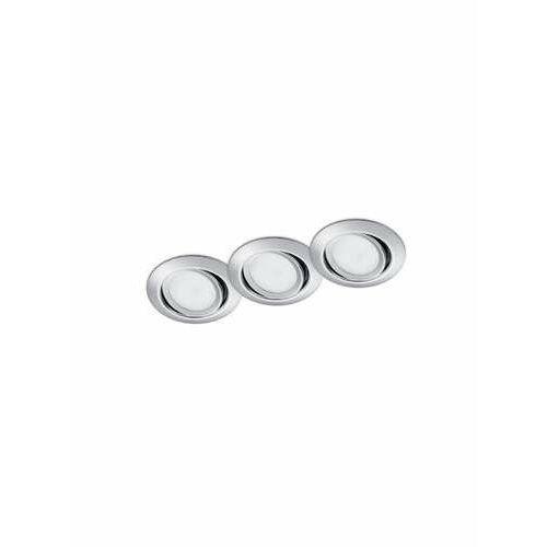 Trio Rila 650310306 oczko komplet 3 sztuki 3x5W LED 3000K chrom