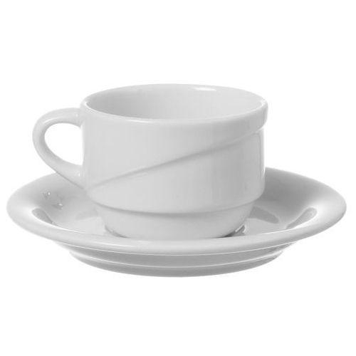 Filiżanka sztaplowana ze spodkiem porcelanowa poj. 230 ml gourmet marki Fine dine