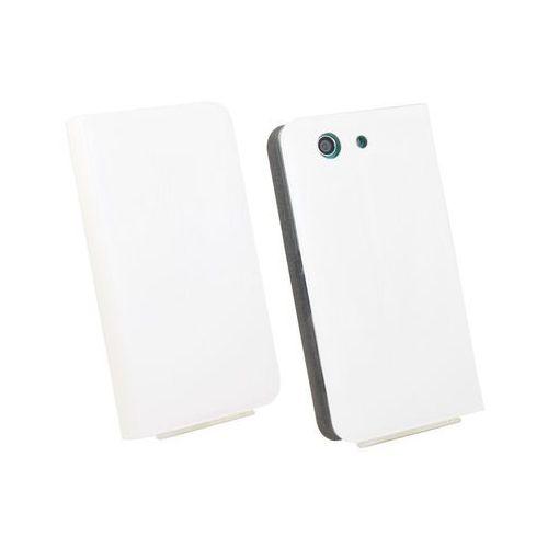 Sony xperia z3 compact - pokrowiec na telefon - biały marki Etuo flex book