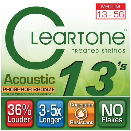 Cleartone struny do gitary akustycznej 13-56 phospore bronze