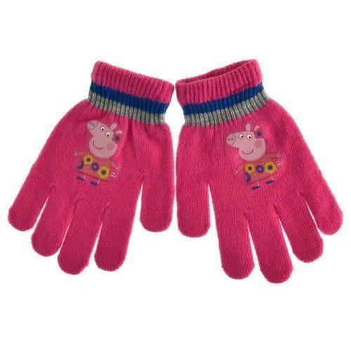 Rękawiczki dziecięce świnka peppa - fuksja marki Licencja - inne