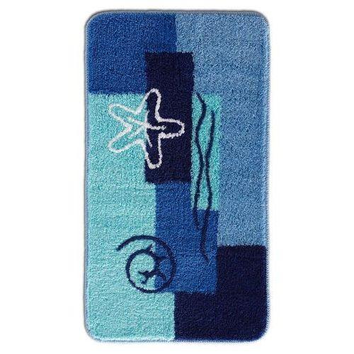 Dywaniki łazienkowe z miękkim runem niebieski marki Bonprix