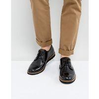 Original penguin toe cap derby shoes black - black