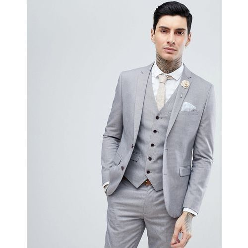 5562ba5a2190d Info · Harry brown lilac puppy tooth wedding skinny fit suit jacket - purple