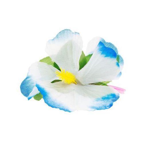 Hawajska przypinka duża kwiatek niebieski - 1 szt.