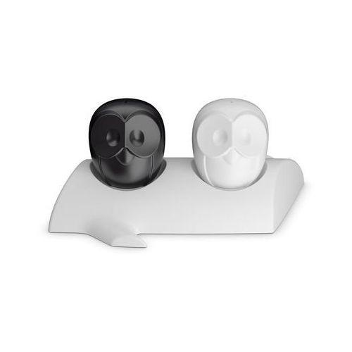 Koziol Solniczka i pieprzniczka na stojaku elli czarna i biała