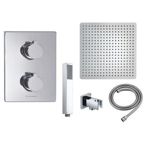 Veldman Zestaw podtynkowy deszczownica 25 cm 3002 termostat zestaw prysznicowy