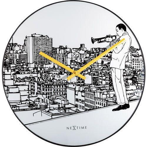 Zegar ścienny Trumpet City Nextime 40 cm (8191)