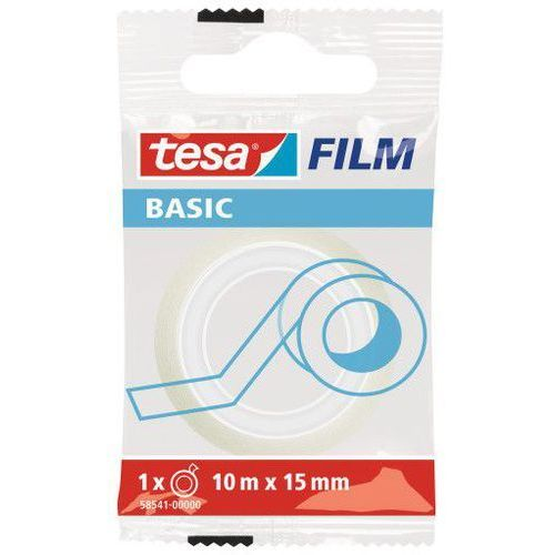 Taśma klejąca film basic 15mmx10m transparentna 58541 marki Tesa