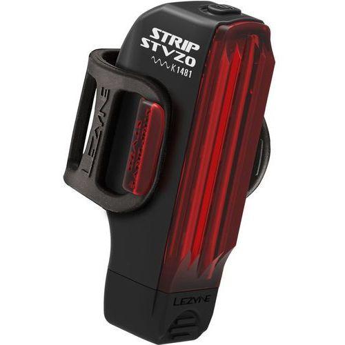 Lezyne strip drive oświetlenie stvzo czerwony/czarny 2018 lampki tylne na baterie (4712805992805)