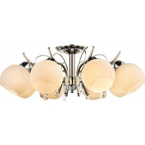 Lampa wisząca zwis żyrandol Globo Perdita 8x40W E14 biała/chrom 54711-8