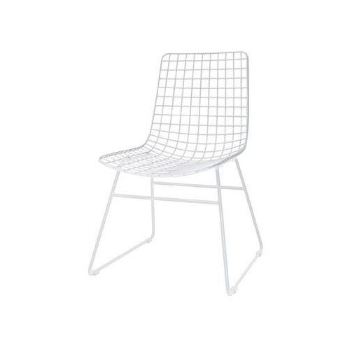 HK Living Krzesło metalowe WIRE białe FUR0019, FUR0019