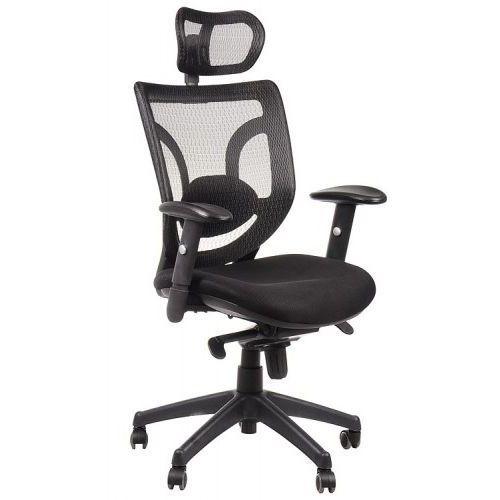 Fotel biurowy gabinetowy KB-8901/CZARNY - krzesło obrotowe