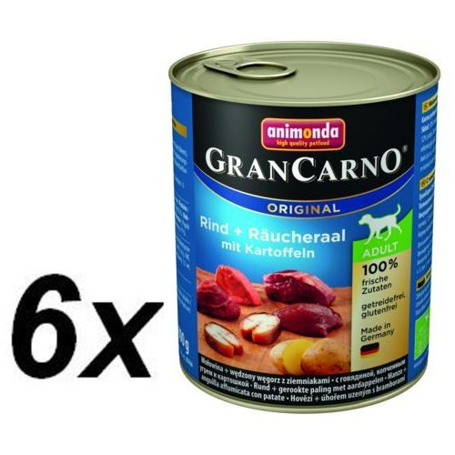 Animonda GRANCARNO Adult wołowina-węgorz-ziemniaki 800g