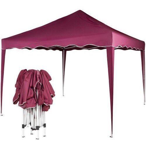 Ekspresowy pawilon namiot ogrodowy handlowy 3x3m - czerwony (odcień bordowy) marki Makstor.pl