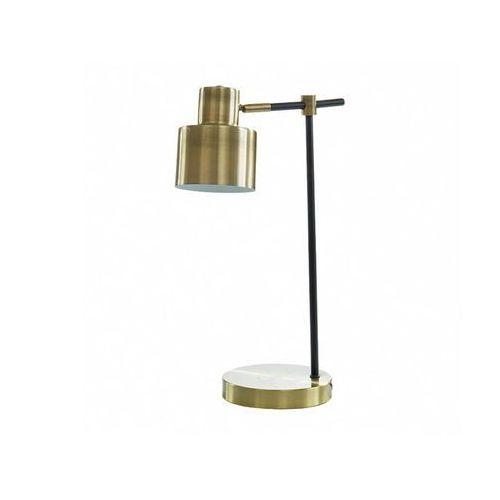 Lampa stojąca ANTICAIRE w stylu vintage – żelazo – 26 × 15 × 45 cm (dł. × szer. × wys.) – kolor złoty