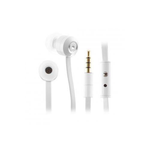 Słuchawki KitSound dokanałowe Ribbons z mikrofonem - białe (KW KSRIBWH) Darmowy odbiór w 20 miastach!