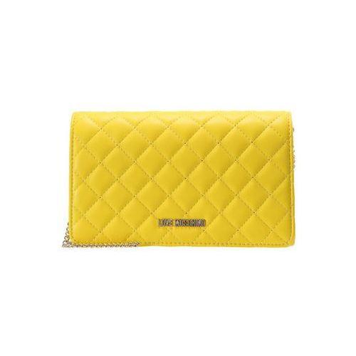 Love Moschino QUILTED CROSSBODY Torba na ramię giallo, kolor żółty