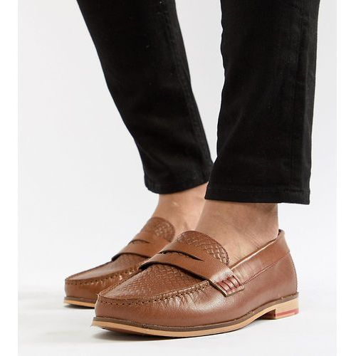 wide fit loafers in tan leather - tan marki Silver street