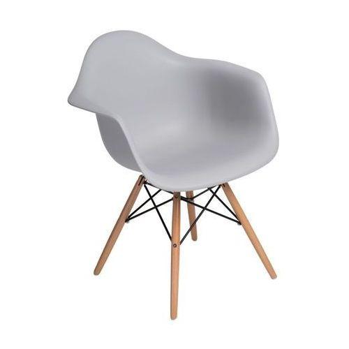 Krzesło P018W PP light grey, drewniane nogi, kolor szary