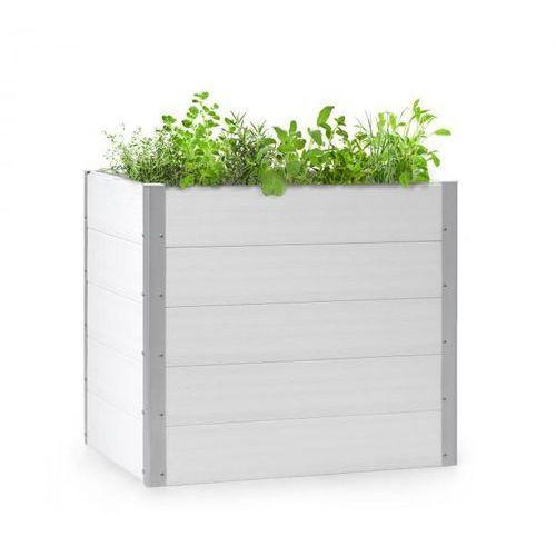 Blumfeldt nova grow, podniesiona grządka, 100 x 91 x 100 cm, wpc, imitacja drewna, biała