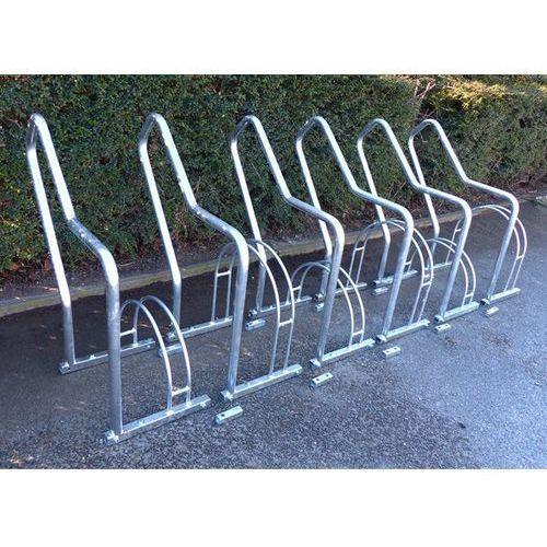 Stojak rowerowy z pałąkami wsporczymi, 6 miejsc ustawienia, ocynkowanie ogniowe. marki Melzer metallbau gmbh & co. kg