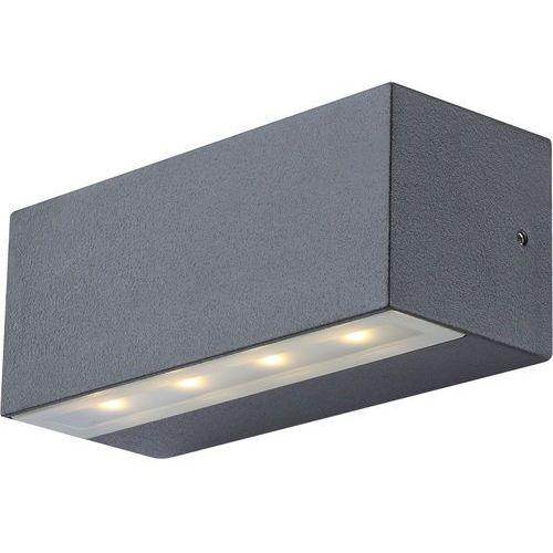 Kinkiet lampa oprawa ścienna zewnętrzna Globo Noam 8x0,5W LED ciemnoszary 34152