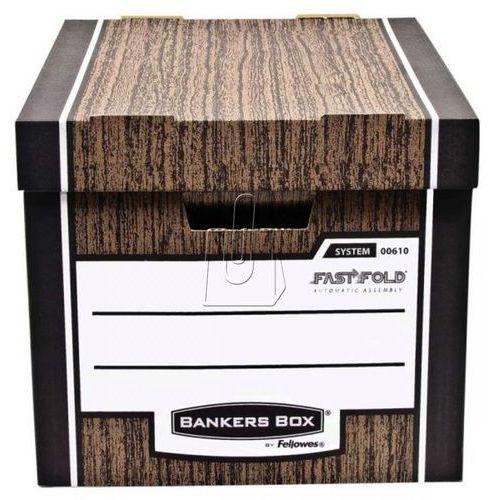 Fellowes bankers box woodgrain - pudło na archiwa fastfold, op. 2 szt. (0061001) darmowy odbiór w 20 miastach! (5904662061001)