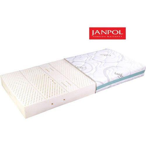 JANPOL NYKS - materac lateksowy, piankowy, Rozmiar - 160x200, Pokrowiec - Jersey Standard WYPRZEDAŻ, WYSYŁKA GRATIS