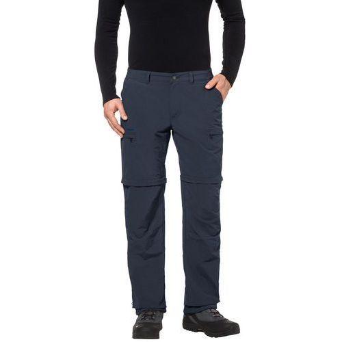 farley iv spodnie długie mężczyźni niebieski 52 2018 spodnie z odpinanymi nogawkami marki Vaude