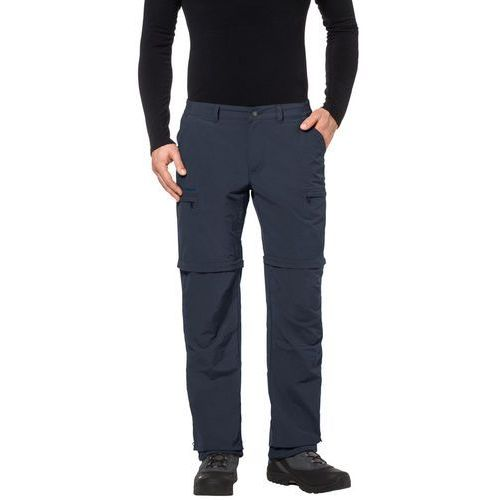 Vaude farley iv spodnie długie mężczyźni niebieski 56 2018 spodnie z odpinanymi nogawkami