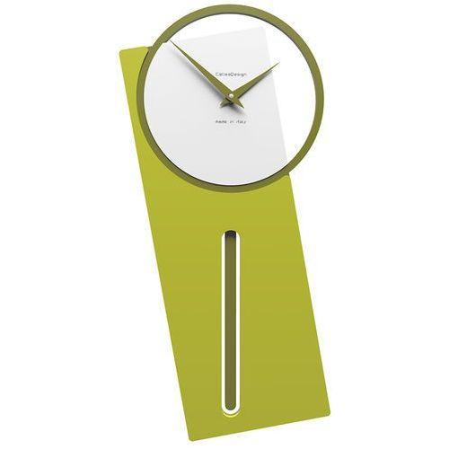 Zegar ścienny z wahadłem sherlock cedrowo-zielony (11-005-51) marki Calleadesign