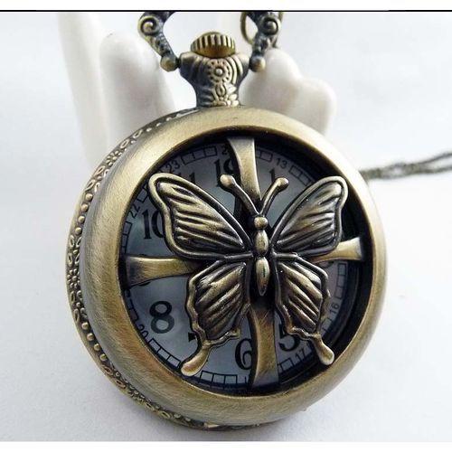 Zegarek w stylu naszyjnika - retro / MOTYLI ZEW / z kategorii naszyjniki i korale
